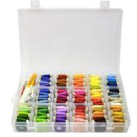 Bordados Floss Kit de armazenamento Box Linhas de costura Ferramentas para Household Knitting Ponto Cruz e mão de fazer Crafts DIY