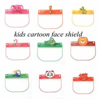 Дети Cartoon Face Shield с животных шаблон ПЭТ противотуманным Защитная маска Дети изоляции Безопасно Глава Visor Cover Party Mask YYA442