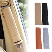 1 Paar stilvoller Auto Sicherheitssitz Gürtel Faux Leder Autositz Schultergurt Pad Kissenbezug Gürtelschutz für Erwachsene Kinder