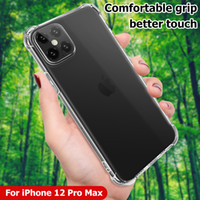 Pour 2020 Nouvelle Apple iPhone 12 Pro Max XS XR 11 XR 11 Promax 7 8 Plus Coque acrylique HARD ACRYLIQUE HARD COVER TRANSPARENT CORPS AIRBAG CLEAR