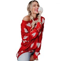 Autumn Winter Long Sleeve Love Print Hollow Out Sweater Knitting Fashion Female Clothing Womens Designer Sweater