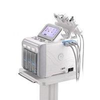 Taşınabilir 6in1 Yüz tedavi H2o2 Hydra aqua su cilt soyma dermabrazyon Derin Temizleme RF Ultrasonik BIO Kırışıklık kaldırma Güzellik Makinesi