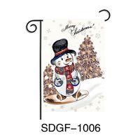 Bannières de Noël 30 * 45cm Halloween Drapeaux Jardin du Père Noël Elk Hanging DRAPEAU Home Décor de Noël Ornements Bannière GGA3683-2