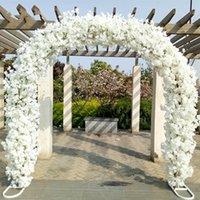 الممتازة زفاف فاخر محور المعادن زهرة قوس الباب الكرز زهرة الكرز الوقوف أزهار لحفل الزفاف ديكور خلفية