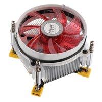 9 cm 12V 92 * 92 * 25 mm hidráulico Ventilador de la computadora CPU Cooler de cobre del disipador de calor 2500RPM para LGA 1366 Rojo
