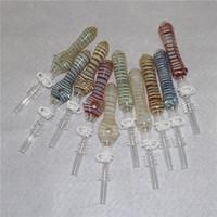 Brownahs Glass NC Kit avec astuce de quartz de 10mm Conseils en titane de titane Keck Clip Silicone Reclaimer Nector Collecteur Kits pour fumer