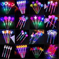 Рождественские игрушки светодиодные мигающие света вверх палочки светящиеся розовые звезды сердца волшебные палочки вечеринки вечеринка ночной мероприятия концертные цирбилы реквизиты детей игрушка