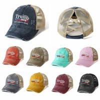 Trump Hat Ponytail Baseball Cap Donald Trump Criss Cross Mes...