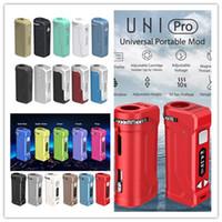 YOCAN ORIGINAL UNI BOX MOD PRO 650MAH Kits de cigarette E-Cigarette Préchauffez la batterie VV Variable Batterie avec adaptateur 510 magnétique pour l'huile épaisse DHL