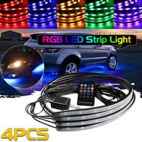 RGB LED Şerit Araba Tüp altında Underglow Underbody Sistemi Neon Işık Kiti Uzaktan Kumanda