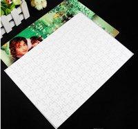 Em branco de sublimação A4 Jigsaw Puzzle DIY imprensa do calor Transferência de artesanato enigma escola escritório DHL grátis