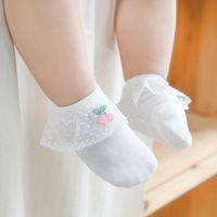 Spring and Summer 2020 New Cherry Lace Non-Slip Baby Room Socks Girl Baby Socks Socks No-Show