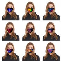 갤럭시 스카이 인쇄 Mascherine 호흡 페이스 마스크 패션 재사용 접는 세척 호흡 남성 여성 Meryls Earloop 2 6bl C2