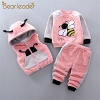 Bear Leader Girls Clothing Sets 2020 New Cartoon Bee Fashion Ouftits Kids Baby Boys Sweet Clothes Toddler Baby Suits 1 4 Years 0926