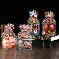 PVC الشفاف مربع حلوى عيد الميلاد الديكور هدية التفاف مربع التعبئة والتغليف بابا نويل ثلج سكر نبات تفاح مربعات حزب اللوازم RRA3515