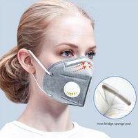 kn95 Gesichtsmaske Filtermaske mit Ventil nicht-gewebten schützt sicher und effektiv Gesichtsmasken unabhängig packagin DHL Verschiffen frei atmen