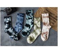 Mens Tie-dye longo Meias Moda Hip Hop Street Style Meias Youth New Arrival Sports alta Sock 2020FW Hot Selling Ins Estilo Sock Atacado