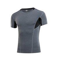 Yoga roupas legal esportes homens compressão atlético vestuário esporte t-shirt rápido fitness seco running ginásio treinamento de manga curta tops t-shirt