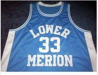 Özel Erkekler Gençlik kadınlar Vintage Aşağı Merion # 33 K B Kolej basketbol Jersey Boyut S-6XL veya özel herhangi bir ad veya numara forması