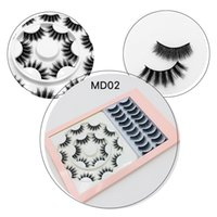 18 NEUE pair Faux Natual 3D Mink Wimpern Dickes Gewirr Lashes Wimpernverlängerung rosa-Kit