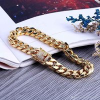 7 8inch 10mm Miami Cuban Link Iced Out Gold Silver Bracelets HipHop Bling Chains Jewelry Mens Bracelets Jewelry
