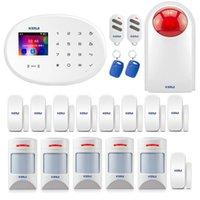 경보 시스템 Kerui WiFi GSM W20 스마트 홈 보안 시스템 2.4 인치 터치 키보드 도어 센서 Anti-Pet 모션 탐지기