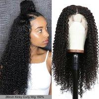 Dilys afro kinky вьющиеся человеческие волосы парик парик 4x4 кружева закрытие парики бразильские реми человеческие волосы натуральный цвет 10-22 дюйма