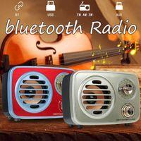 KINCO rosso / oro portatile Retro radio AM FM SW bluetooth altoparlante TF card slot di ricarica USB corsa della casa Mini Radio