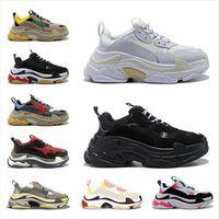 Triple S Casual Shoes Paris 17fw Low Old Dad Sneaker Combinaison Semelles Bottes Bottes Mens Femmes High Top Qualité des Chaussures Taille 36-45