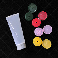 200ml Empty Glossy Squeeze Bottle Clear Cosmetic Soft Tube Refillable Transparent Packaging Containers Cream Hose 30pcs lot