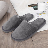 Shoes Men Warm Home Slippers Plush Soft Indoors Anti- slip Wi...