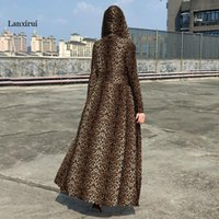 Women Leopard Print Trench Coat Oversize Vintage Snake Patent Single Breasted Slim Waist Cardigan Streetwear Outerwear Coats