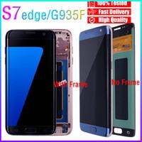 G935 100% SAMSUNG GALAXY S7 EDGE LCD Ekran için Test Orijinal Paneller SM-G935F SM-G935FD SM-G935W8 SM-G9350 SM-G935S Dokunmatik Ekran Digitizer Meclisi Yedek Parçalar