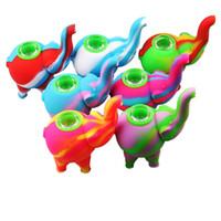 Silicona elefante DHL mini-Pipe burbujeador de agua Tubos de silicona de colores múltiples plataformas petrolíferas bong silicio de grado alimenticio cachimba Bongs