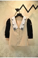 2020 Spedizione gratuita AutunnoBrand Stesse camicette Camicette Camicette con scollo a risvolto manica lunga perline moda donna vestiti Yashi