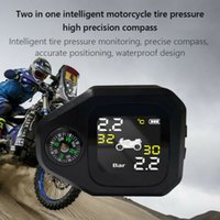 Motocicleta TPMS con el compás a prueba de agua Presión de Neumáticos Moto Monitor System