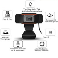 Cámara HD Webcam Web cámara 30fps 480P / 720P / 1080P integrados en el PC acústicos absorbentes del sonido del micrófono USB 2.0 Grabación de vídeo Para para la computadora PC portátil