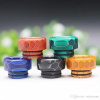 810 Resin Snake Skin Drip Tip Epoxy Short Mouthpiece Wire Bore 510 Suck Tips for TFV12 Prince and TFV8 X Big Baby