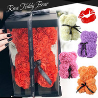 Dolls 25cm romantico regali di San Valentino cinese Regali Rose Flower Bears creativo grande abbraccio orso regalo di Natale
