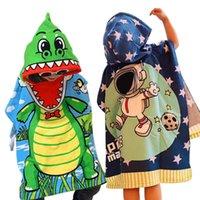 Симпатичные дети мультфильм халаты плаща Мальчики Ванна Полотенца с капюшоном пончо полотенце плавать бассейн пляжное полотенце Прекрасный Детский Дом Ванна Душ Robe 2020