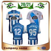 20/21 Deportivo Alaves Soccer Jerseys Home Blue Jersey 2021 بعيدا Guidetti Duarte Lucas Shirt Laguardia R. Sobrino Football Unifor