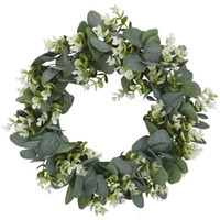 Faux Boxwood Wreath 12. 9Inch Artificial Green Leaves Wreath ...