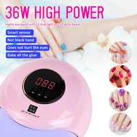 36W White USB Plug Auto LED Nail Lamp Professional UV Nail Gel Dryer Lamp High Quality Intelligent Induction Nail Care Tool