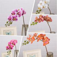 """زهور الزهور الزخرفية 7P الاصطناعي اللاتكس فراشة الأوركيد 7 رؤساء ريال لمسة مصغرة phalaenopsis جيدة 25 """"لزهرة الزفاف"""