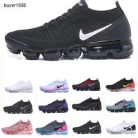 NIKE Air Max Vapormax Flyknit 2.0 New Air 2.0 Fly 3,0 malha Running Shoes Bred CNY azul Fúria South Beach All Black Triplo White Men Designer Sports Sneakers Tamanho 36-46 HH789