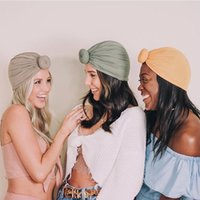 2020 نسائية جديدة قبعات الأطفال الربيع والصيف دونات معقود القبعات العمامة قبعة الرئيسي للأطفال وقبعة 18 الألوان
