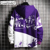 CHAIFENKO Hip Hop Sudaderas Hombre Otoño Nueva Moda Casual Patinetas la camiseta masculina japonesa Harajuku Streetwear Hombres sudadera con capucha 200923