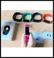 ID115 115 Artı Akıllı Bilezik Ekran Spor Tracker Adımsayar İzle Sayaç Nabız Tansiyon Aleti Akıllı Bileklik DHL için