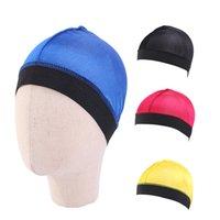 Tampão de onda de abóbada de seda para crianças cor sólida cor capa capa capa para menino headwear macio bandana para menina desgaste de acessórios de cabelo durag