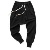 Pantalons pour hommes hommes style mode hip hop danse harembarron de survêtement de survêtement de pantalon de panneau de piste